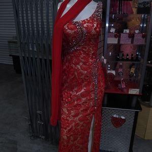 New long rhinestones dress size S